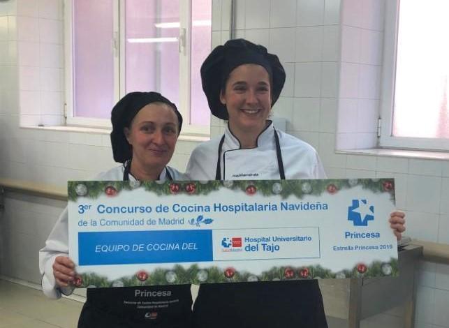 El Hospital del Tajo, cuya alimentación gestiona Mediterránea, gana el concurso de cocina hospitalaria navideña de Madrid